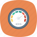 dashboard, gauge, measure, meter, performance, speed, speedometer icon
