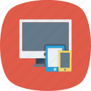 desktop, devices, mobile, responsive, tablet, website icon