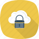 cloud, lock, online, security icon