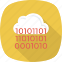 cloud, coding, computing icon