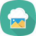 cloud, gallery, guardar, image, interface, save icon