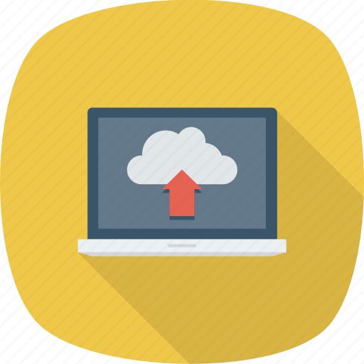 Cloud, data, laptop, transfer, transmission, upload icon - Download on Iconfinder
