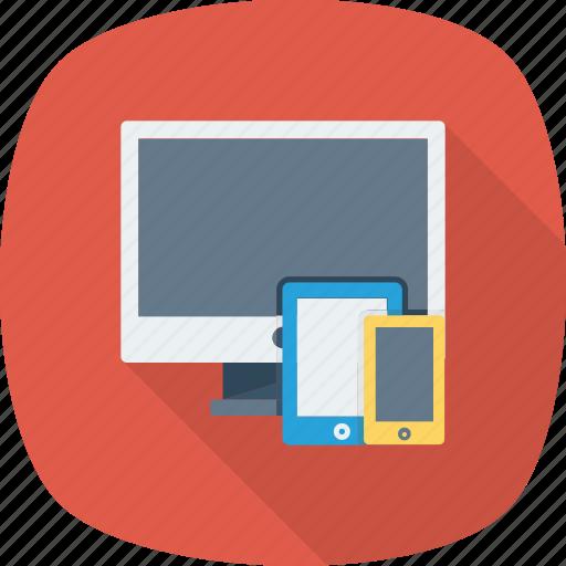 Website, tablet, mobile, devices, desktop, responsive icon