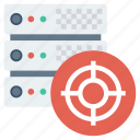 configuration, database, hosting, server, settings, setup, target icon