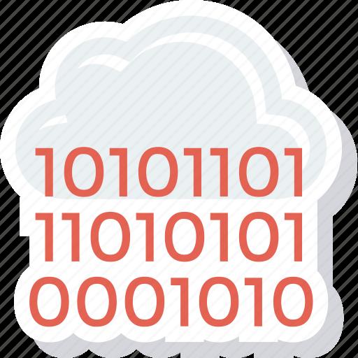 cloud, coding, computing icon