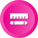 customize, draw, drawing, edit, pencil, preferences, ruller icon