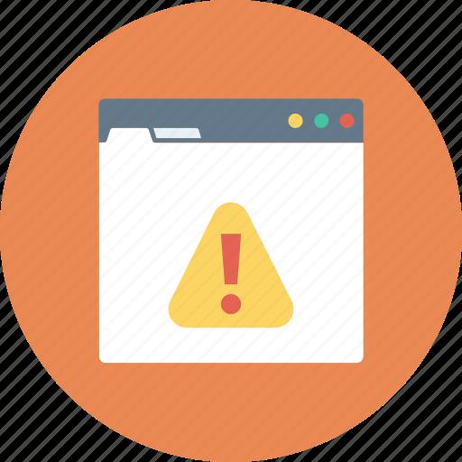 browser, error, internet, online, web icon icon