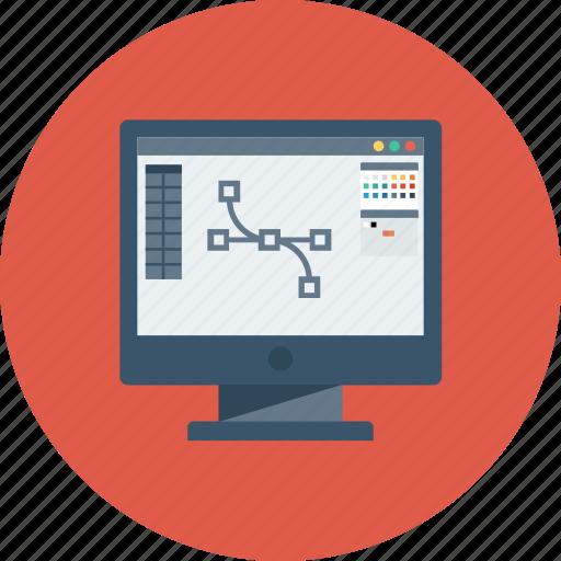 art, creative, design, design tool, monitor, tool icon icon