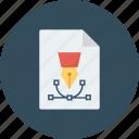 art paper, design file, graphic designing, graphic editor, pen tool icon icon