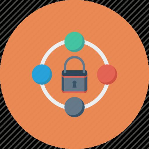 lock, padlock, secure sharing, server security, sharing icon icon