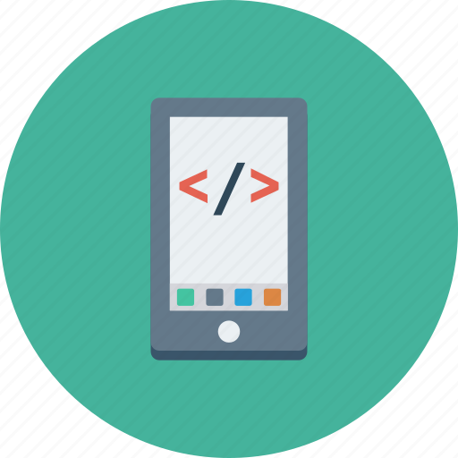 coding, html, mobile, online, smartphone, website icon icon