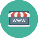 browser, ecommerce, homepage, online shop, portal, shop, webpage icon icon