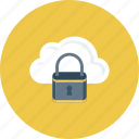 cloud, cloud security, lock, online security, security icon icon