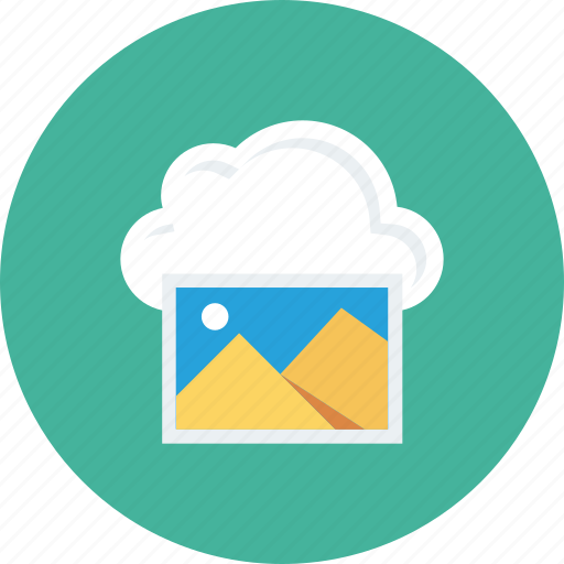 cloud, gallery, image, interface, save icon icon