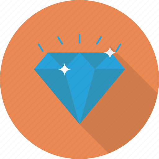 diamond, gem, luxury, sparkle, value, wealth icon