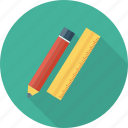document, edit, pen, pencil, ruler, tool, write icon