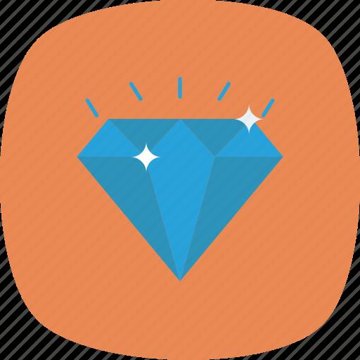 Diamond, gem, luxury, sparkle, value, wealth icon - Download on Iconfinder