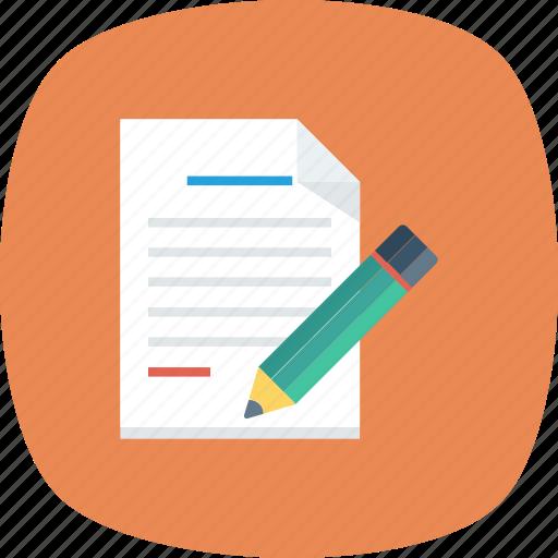 document, edit, file, filetype, modify icon