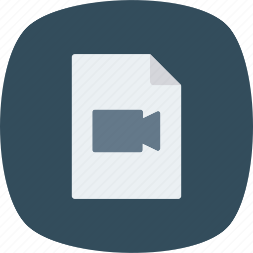 Document, file, movie icon - Download on Iconfinder