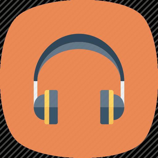 earphone, handset, headphone, mic, with icon