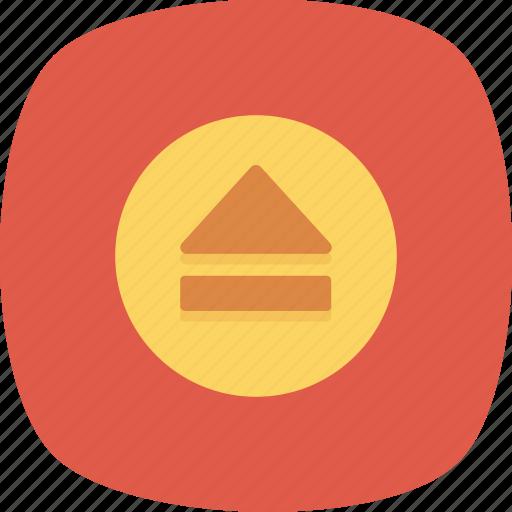 Control, media, multimedia, eject icon