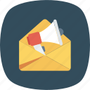 announcement, email, envelope, letter, mail, message icon