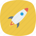fly, rocket, space, spaceship, startup icon