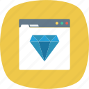 diamond, quality, ranking, seo, web, website icon