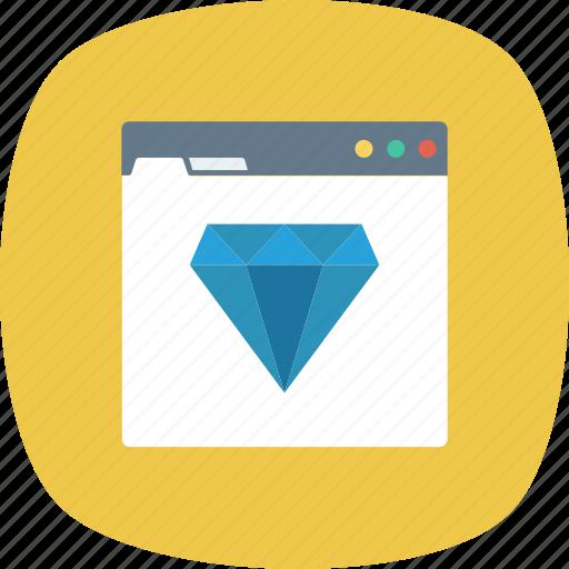 Diamond, quality, ranking, seo, web, website icon - Download on Iconfinder