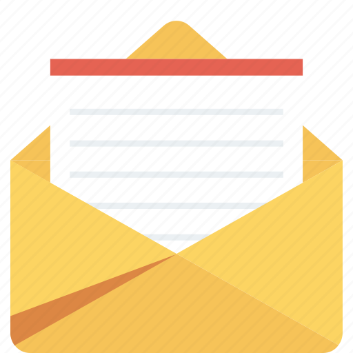 email, envelope, letter, mail, message, open icon