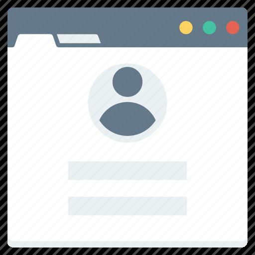 form, login, user, web icon