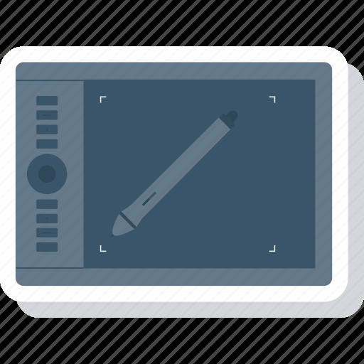 design, draw, pen, tablet, wacom icon