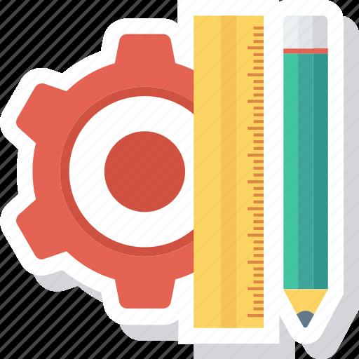 design, pencil, rule, streamline icon