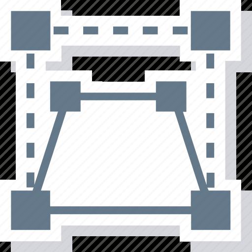 design, perspective, tool, transform icon