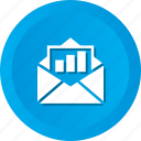envelop, graph, line, report icon