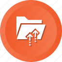envelope, files, folder, interface, office, upload icon