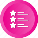 evaluation, infographics, rating, report, stars icon