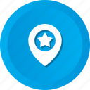 favorite, geo, location, star, targeting icon