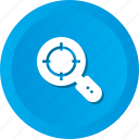 find, magnifier, search, target, zoom icon