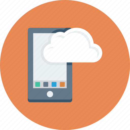 android, cloud, cloud computing, device, mobile, phone, smartphone icon icon