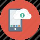 app, cloud, drive, mobile, upload icon
