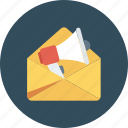 announcement, email, envelope, letter, mail, message icon icon
