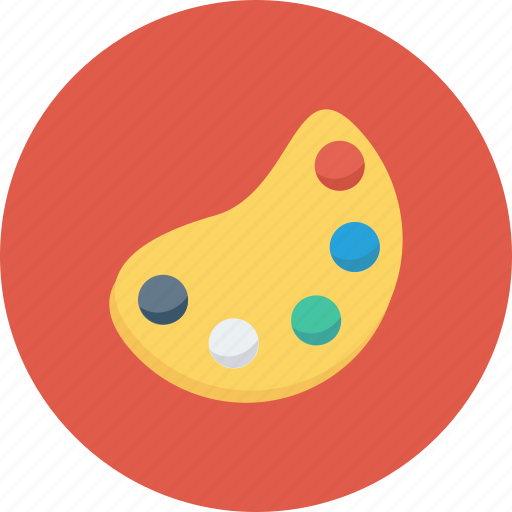 art, artist plate, paint palette, painting icon icon