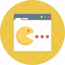 monitor, online game, pacman game, pacman ghost, video game icon icon