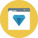 diamond, seo, web quality, web ranking, website icon icon