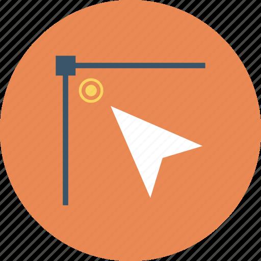 arrow, blue, corner, right, round, top icon icon