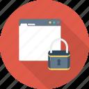 internet, lock, password, security, web