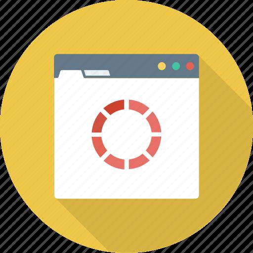 loading, monitor, processing, refresh, waiting, web icon
