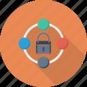 lock, padlock, secure, security, server, sharing