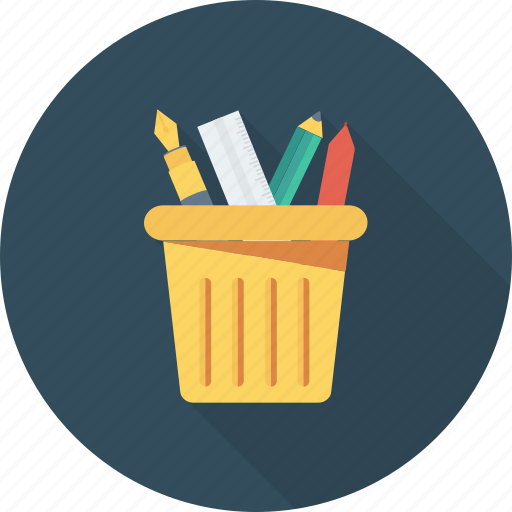 Box, container, holder, pen, pencil icon - Download on Iconfinder